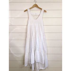 Free People White Challis Boho High Love Dress